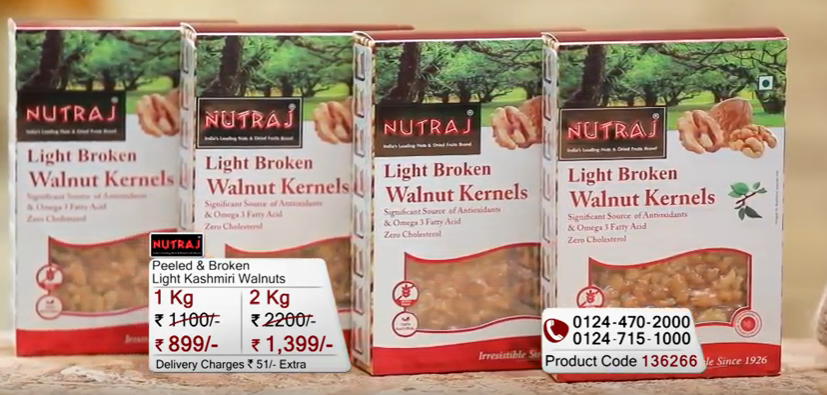 Nutraj Peeled & Broken Light Kashmiri Walnuts