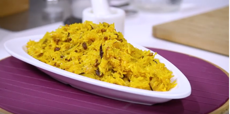 Coconut Zarda Pulao in Pressure Cooker -  Dessert Recipe by Chef Harpal Singh